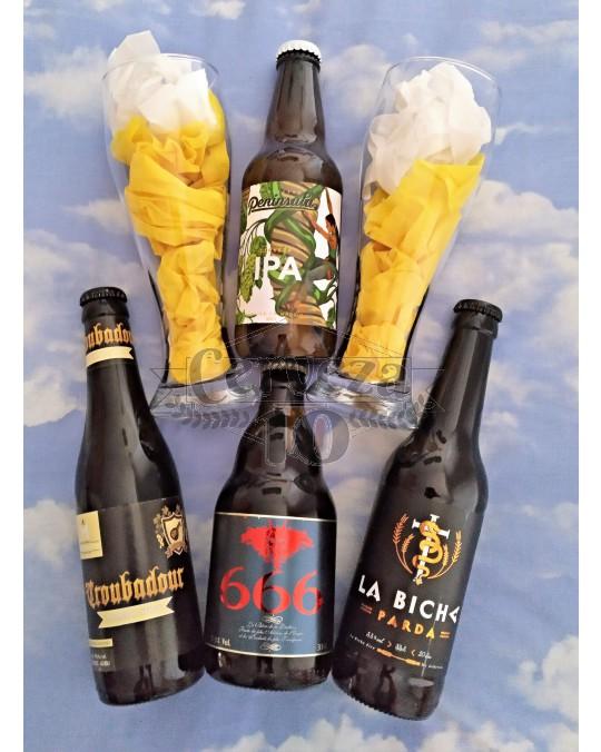 Cervezas artesanas e importación amantes para deleite