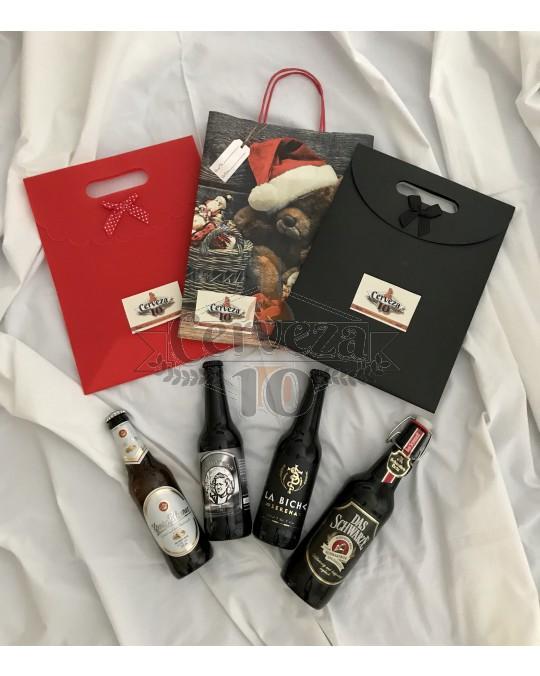 Cervezas Artesanas e Importación 2+2 en bolsa regalo