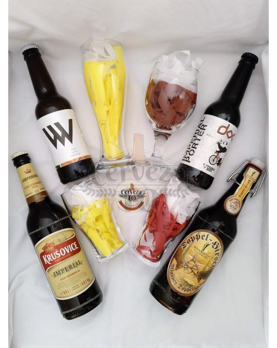 Cervezas artesanas e importación iniciación para deleite