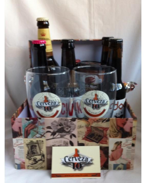 Caja Vintage de Cervezas Artesanales y de Importación