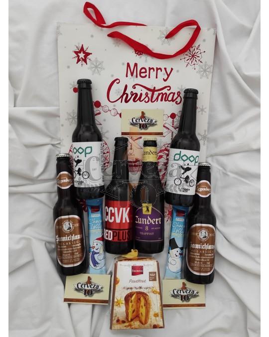 Cervezas Artesanas e Importación 3+3 en bolsa regalo Navidad