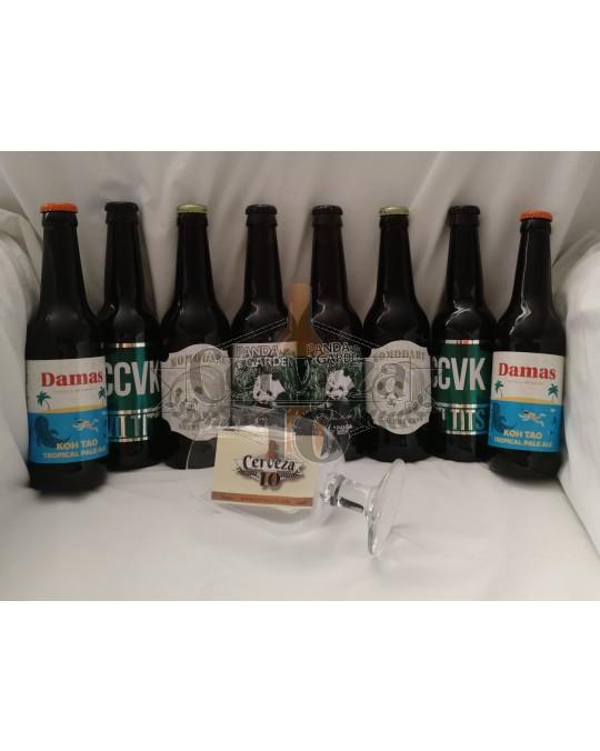 Cervezas artesanas amantes para deleite