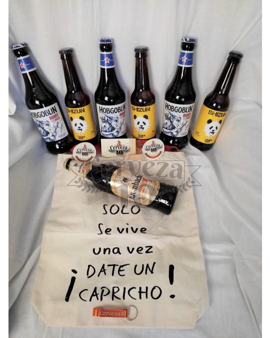 Cervezas Solo se vive una vez ! DATE UN CAPRICHO !