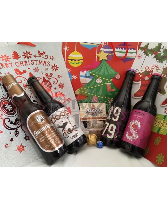 Cervezas Artesanas e Importación 2+2 en bolsa regalo Navidad