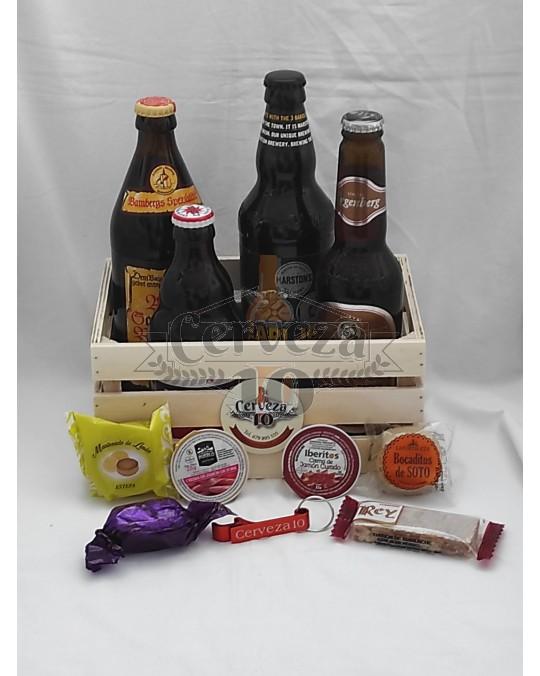 Cervezas  importación en cesta